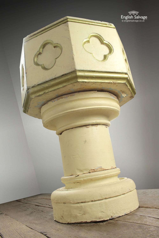 Reclaimed Stone Church Baptismal Font