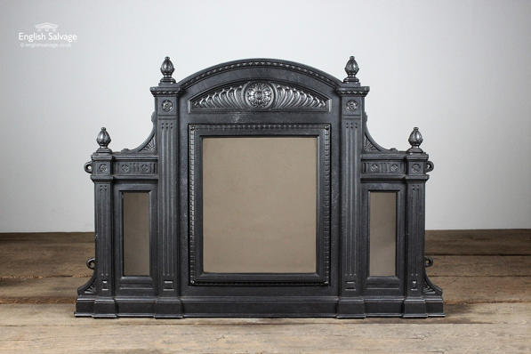 Reclaimed Triple Mirror Cast Iron Overmantel