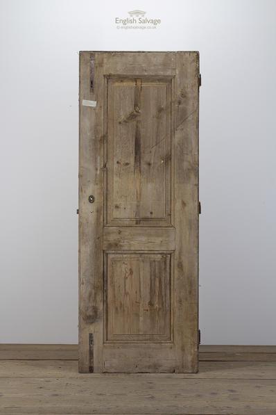 Reclaimed Two Panel Pine Interior Door