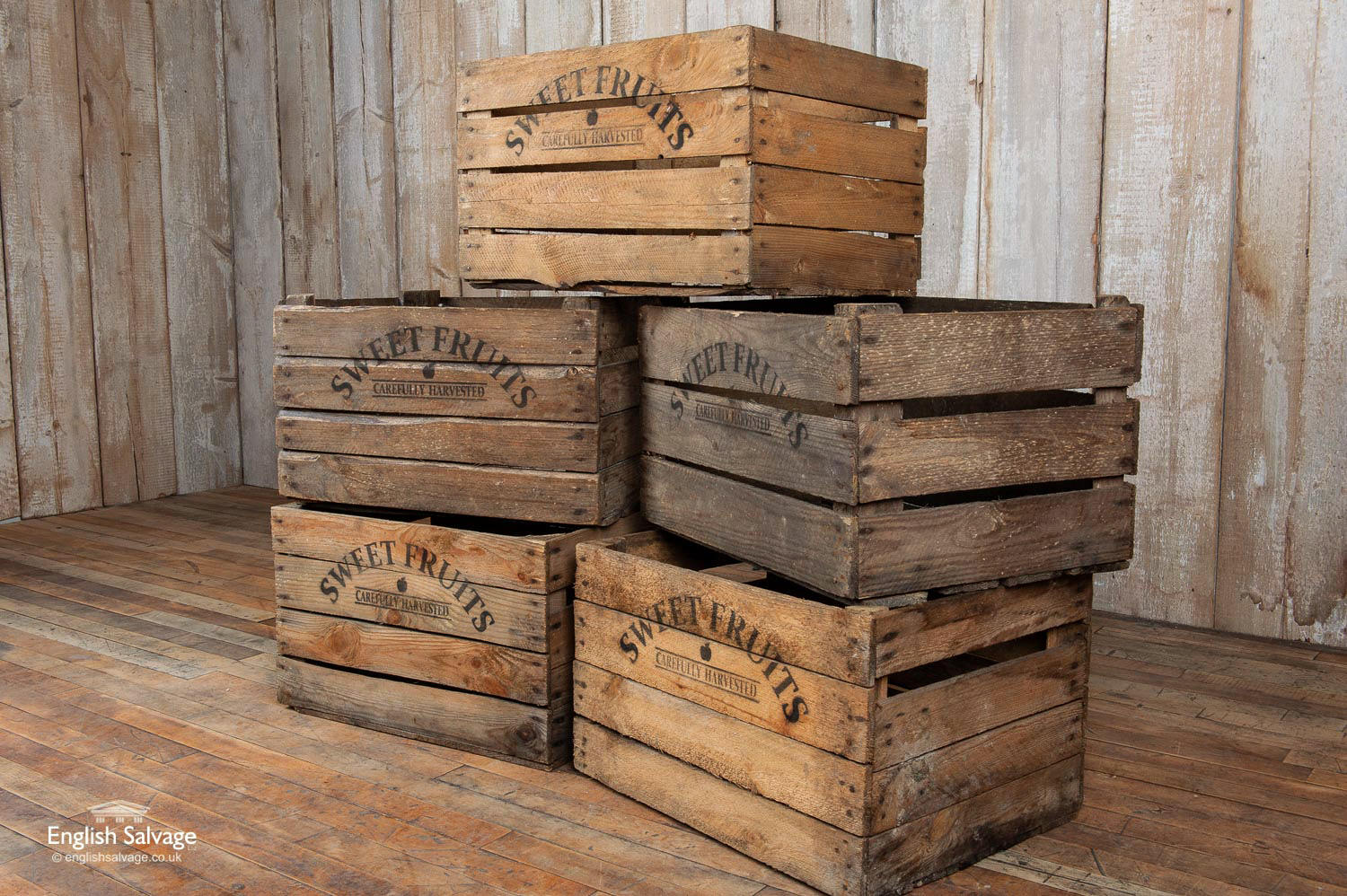 Reclaimed Vegetable Fruit Wooden Crates