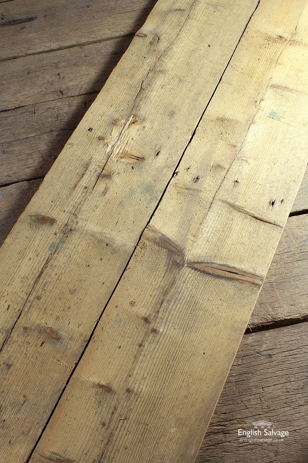 Reclaimed Wide Footworn Pine Planks Boards
