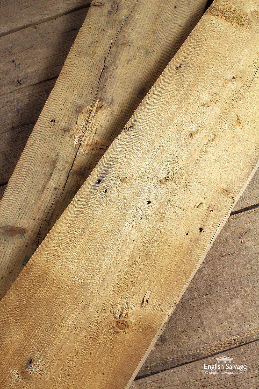 Reclaimed Wide Footworn Pine Planks Boards