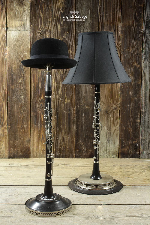 Repurposed Unusual Clarinet Desk Table Lamps