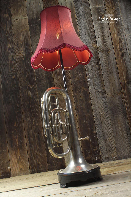 Repurposed Vintage Euphonium Floor Lamp