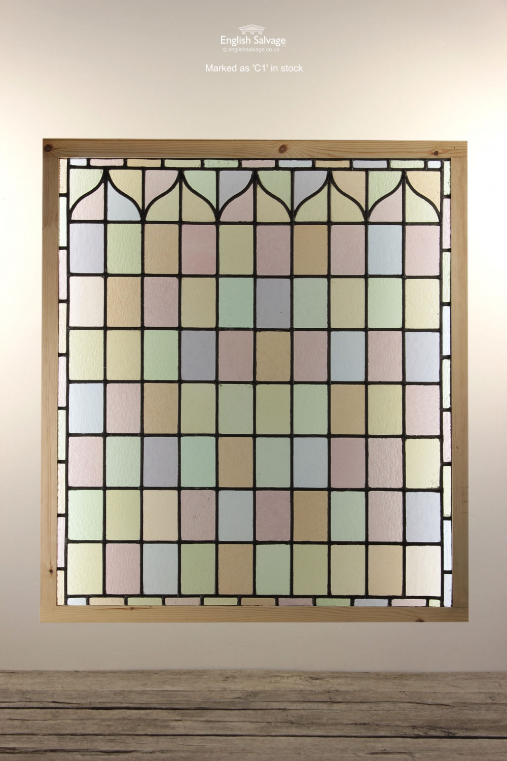 Restored Stained Glass In Protective Frames