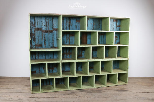 Rustic Painted Wooden Pigeon Hole Storage