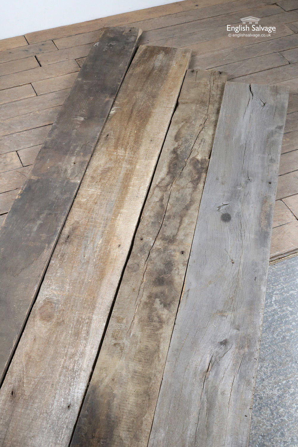 Rustic Reclaimed Elm Flooring Cladding