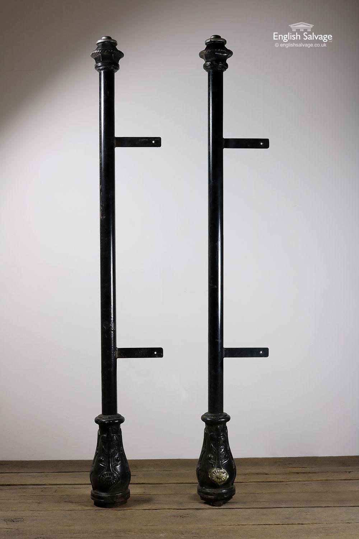 Salvaged Black Cast Iron Posts Pillars