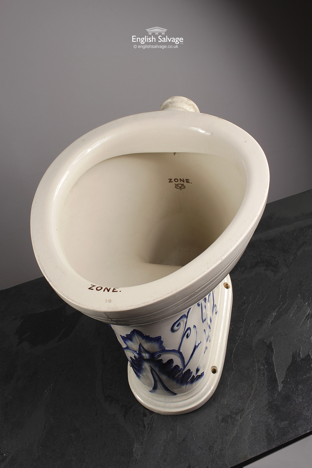 Salvaged Embellished Cream Zone Toilet / Loo