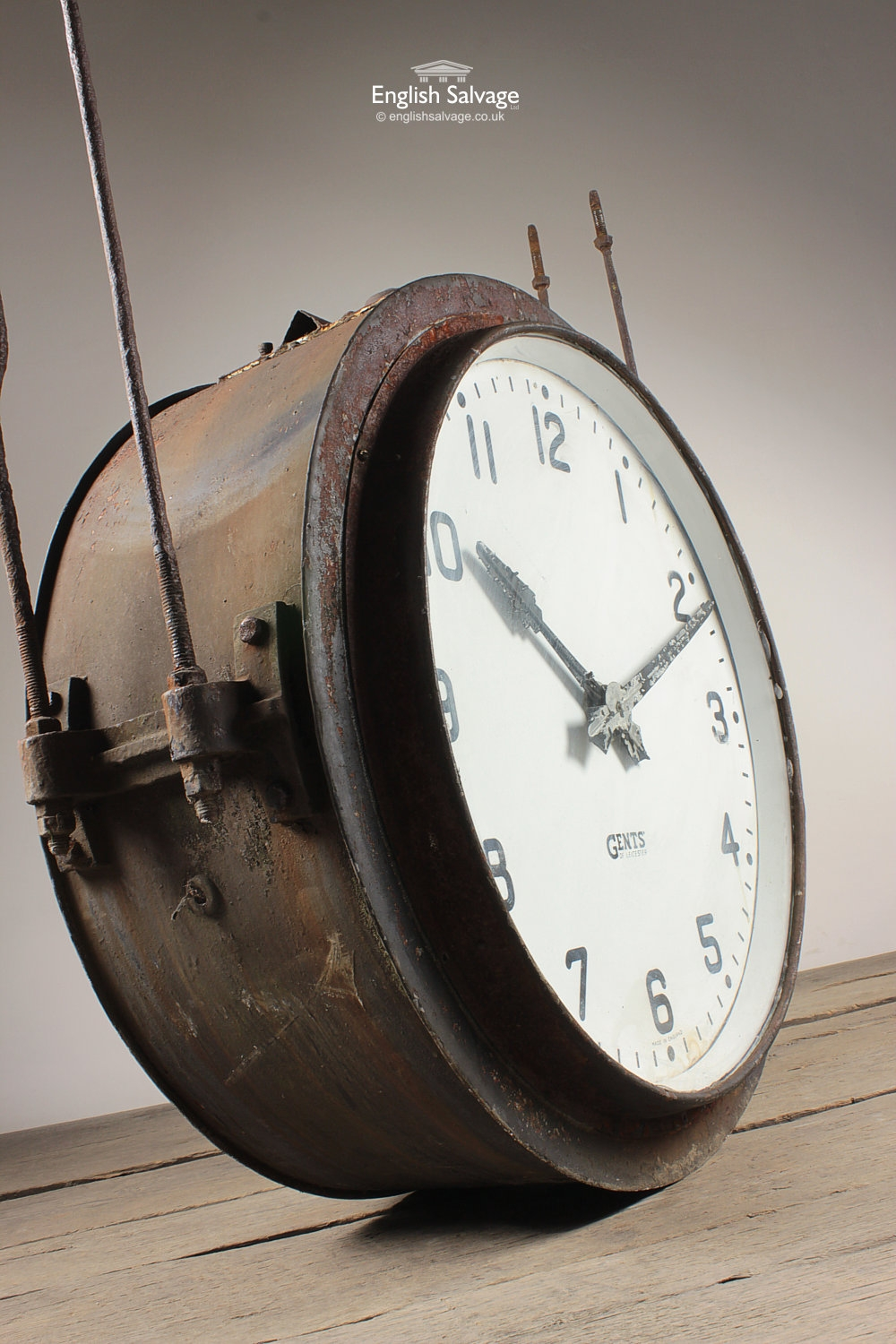 Salvaged Industrial Factory Wall Clock
