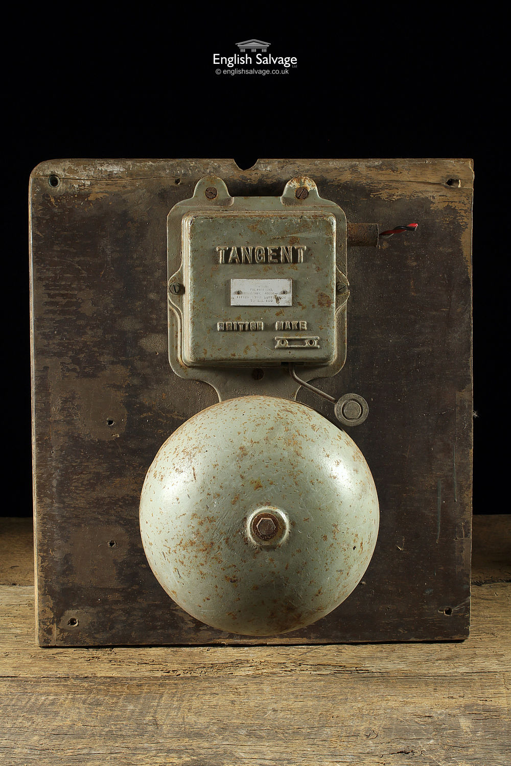 Salvaged Industrial Tangent Electric Bell