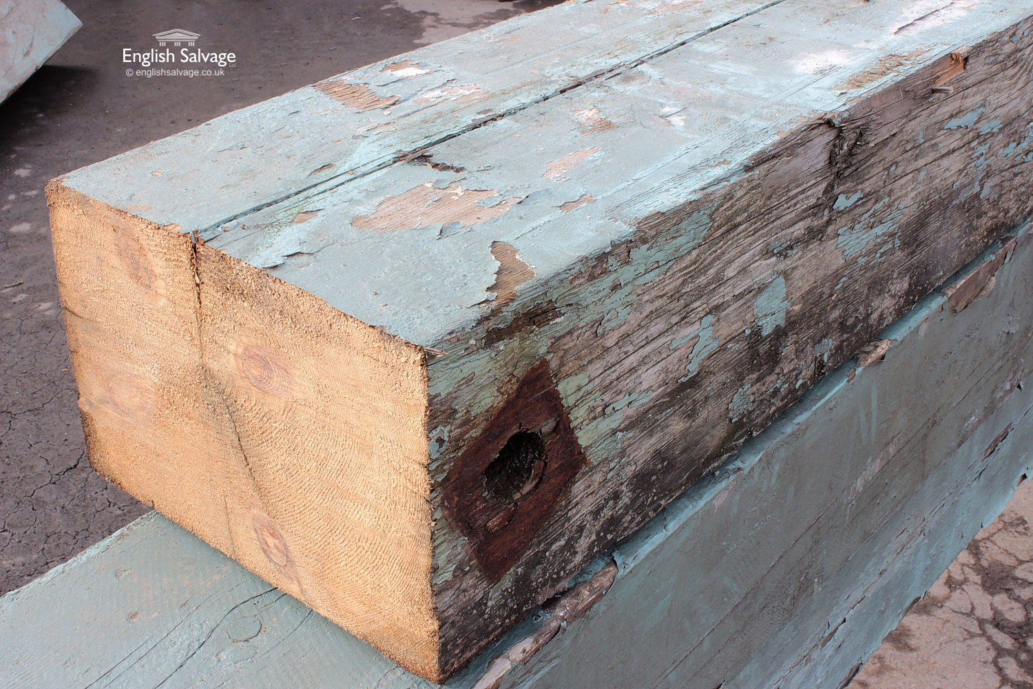 Salvaged Pitch Pine Timber Beams Joists