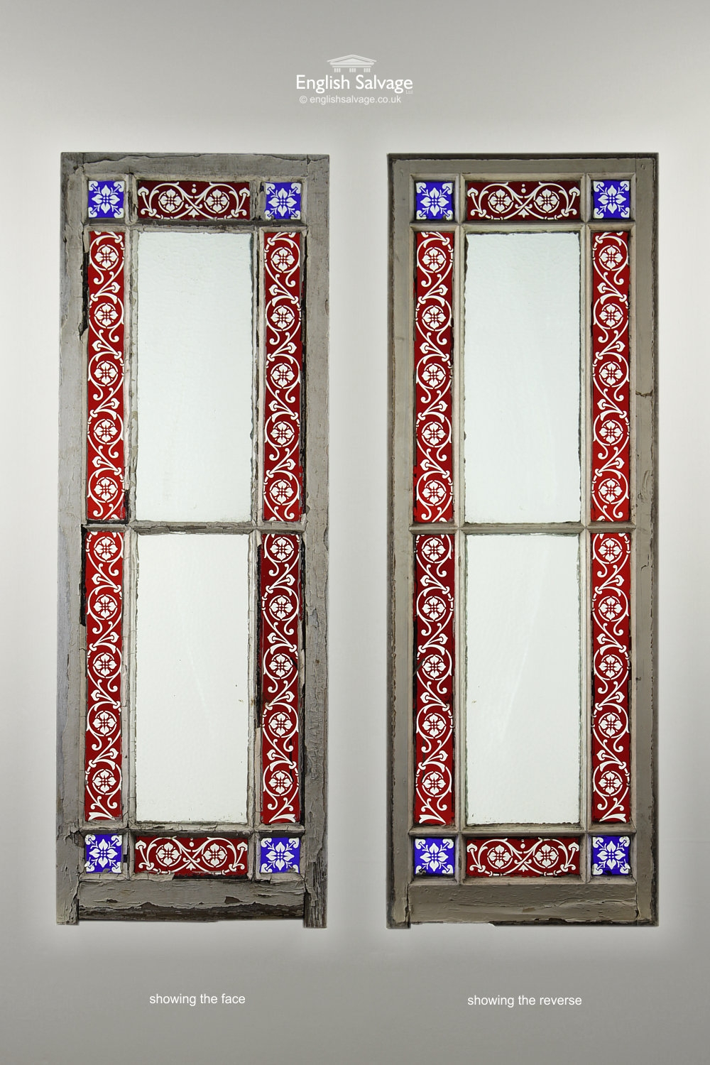 Salvaged Set Of Stained Glass Panel Windows
