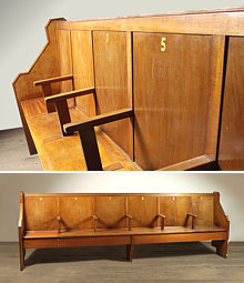 Reclaimed Oak And Pine Church Pews And Vintage Chapel