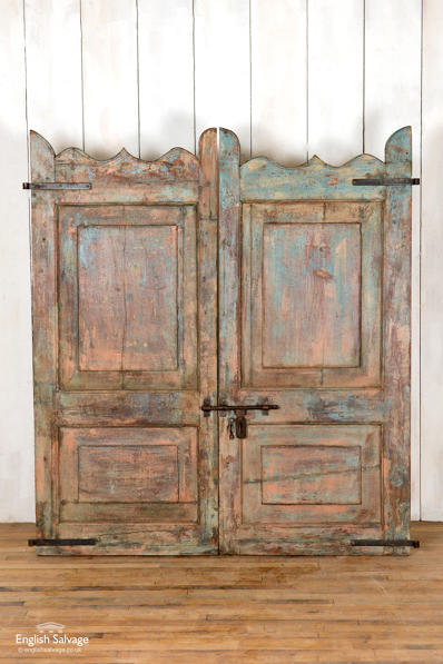 Salvaged teak dog gate/ saloon door
