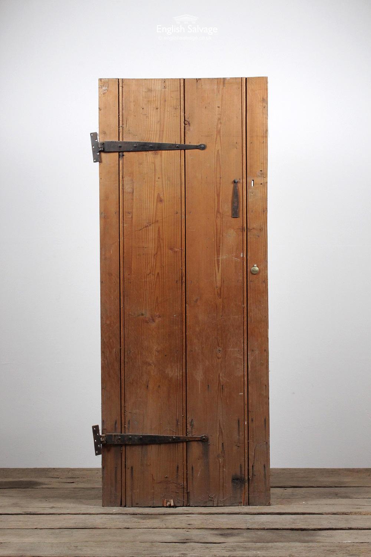 Salvaged Unusual Heavy Wide Plank Door