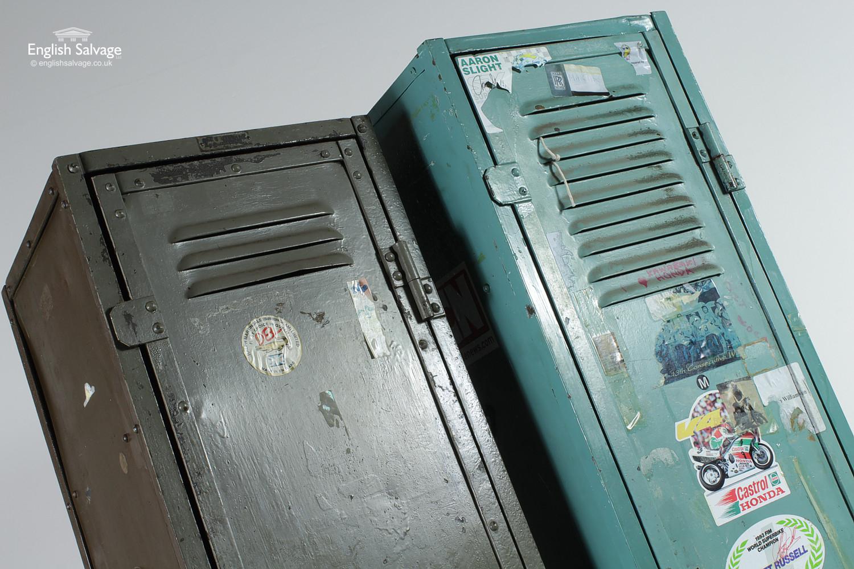 Salvaged Vintage Industrial Metal Lockers