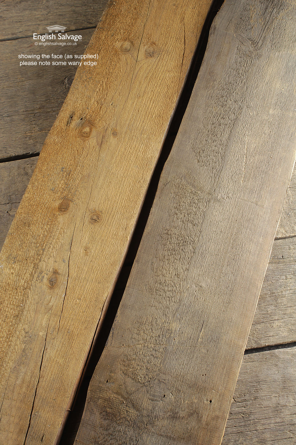 Salvaged Waney Edge Pine Boards