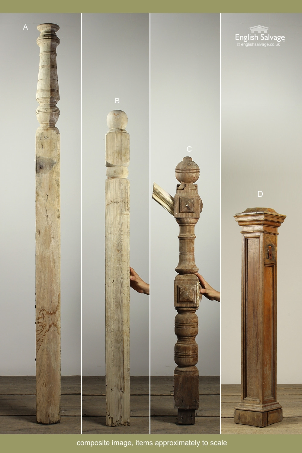 Selection Of Reclaimed Wooden Newel Posts