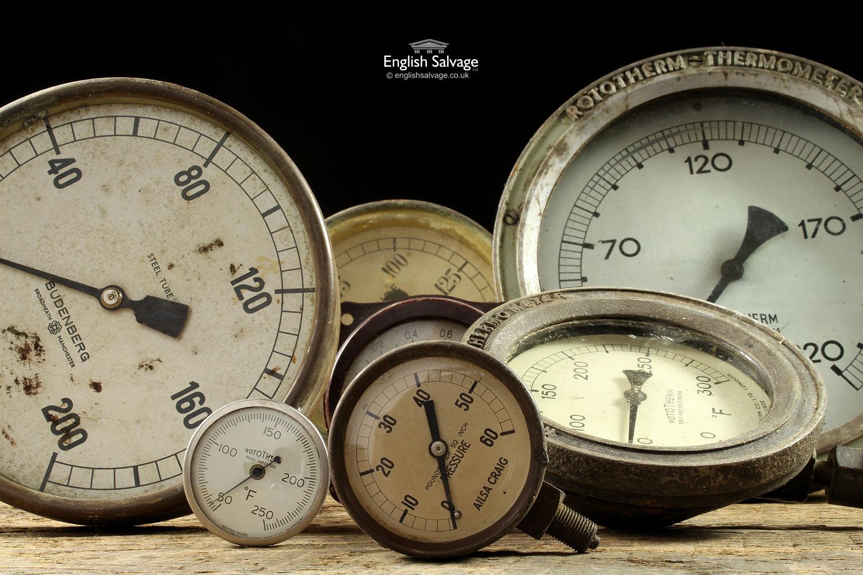 Selection Of Vintage Pressure Gauges