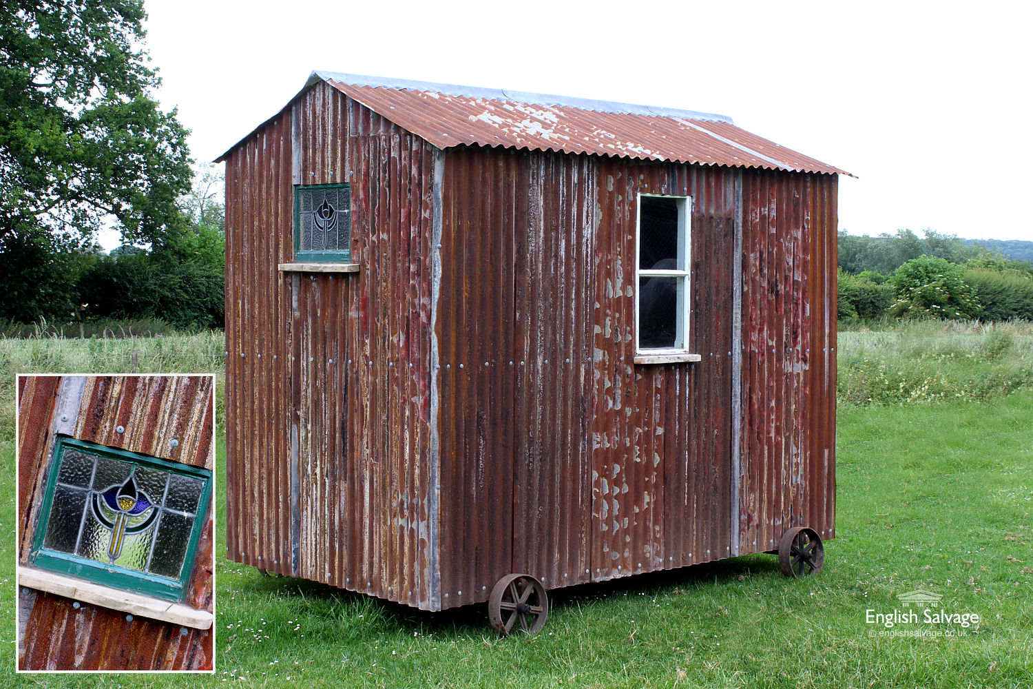 Shepherd Hut Tin Shed With Light Amp Plugs