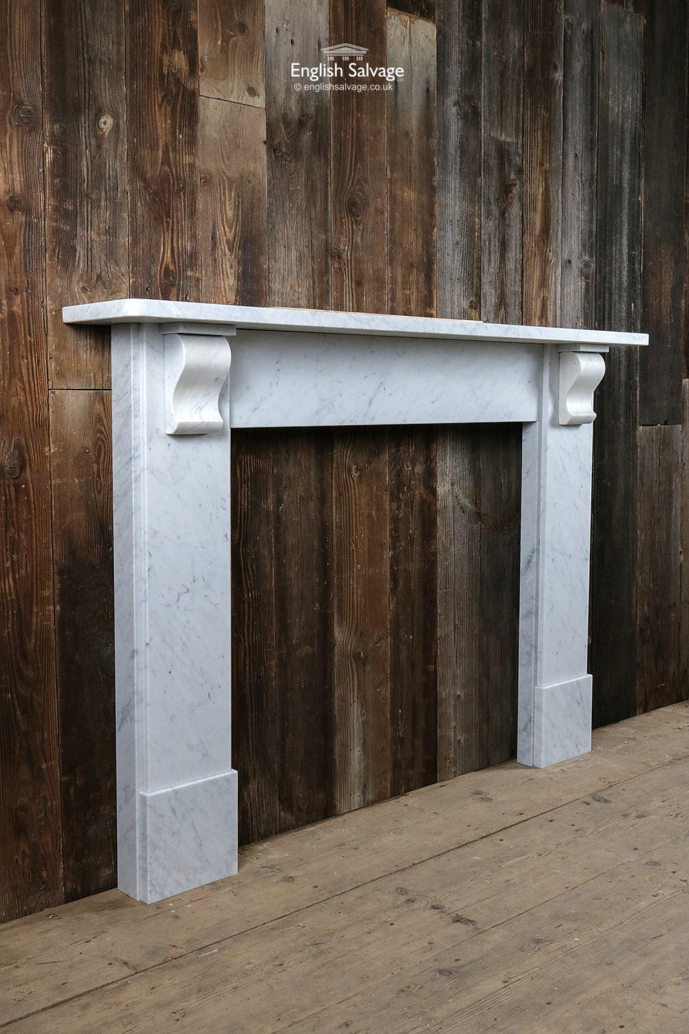 Simple Marble Fire Surround With Corbels
