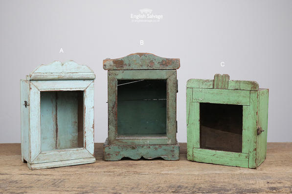 Small Glass Fronted Painted Cabinets