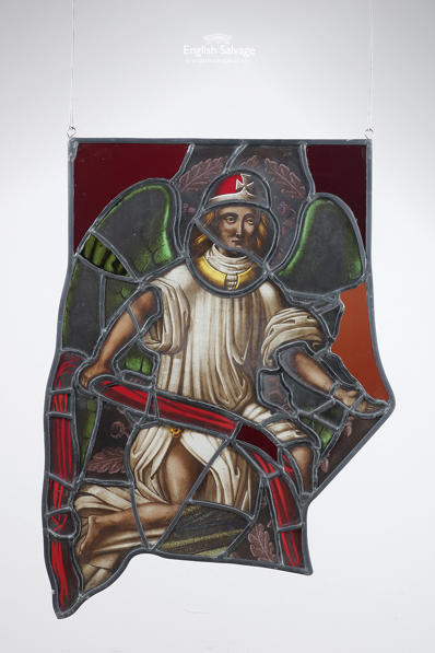 Stained glass panel St George