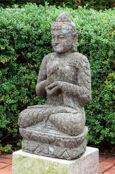 Stone Buddha Garden Statue