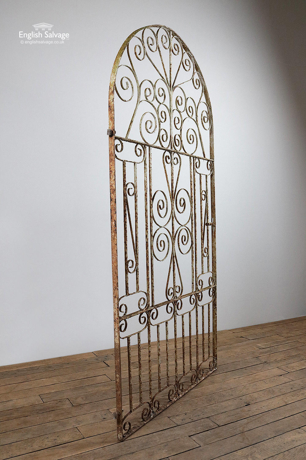 Tall Arched Wrought Iron Pedestrian Gate