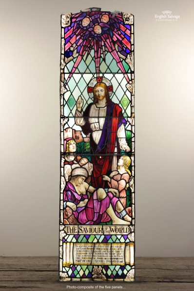 The Saviour of the World Stained Glass Panel