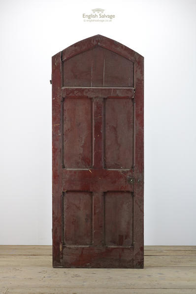 Triangular arched stop chamfered old door
