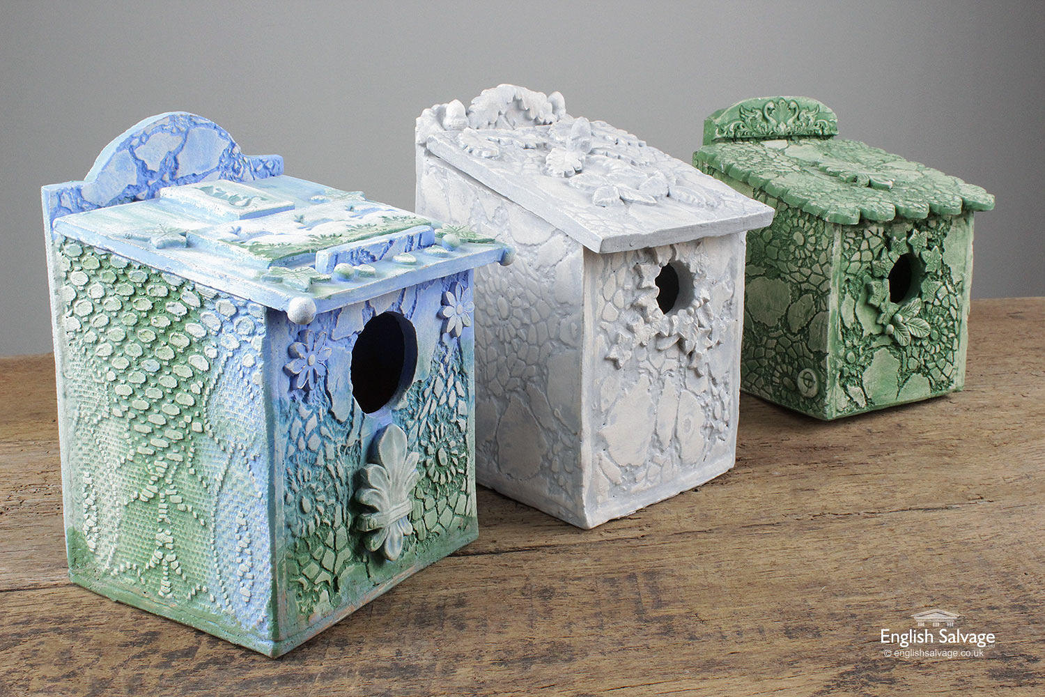Unique Handmade Ceramic Bird Nest Boxes