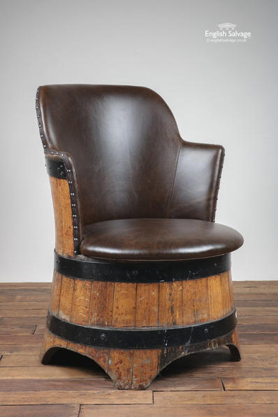 Unique Upcycled Oak Barrel Armchair