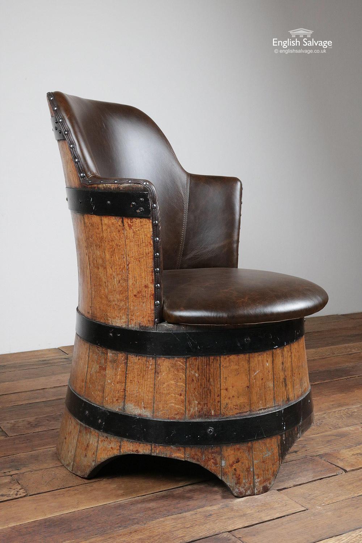 Unique Upcycled Oak Barrel Armchair