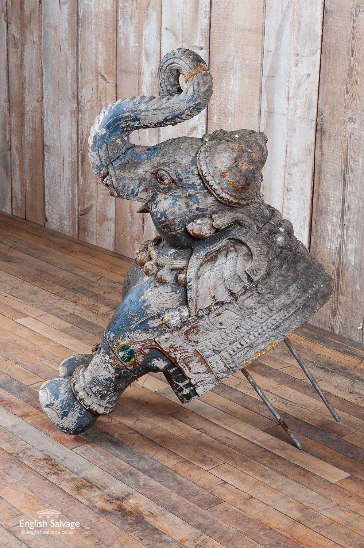 Unusual Reclaimed Elephant Wall Art