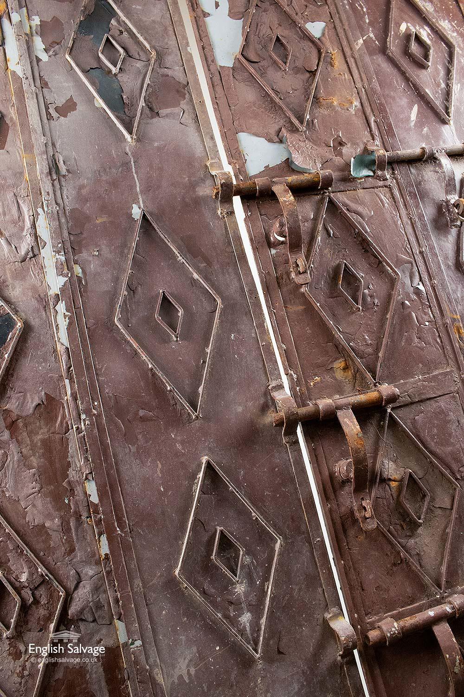 Unusual Sheet Metal Doors From A Film Set