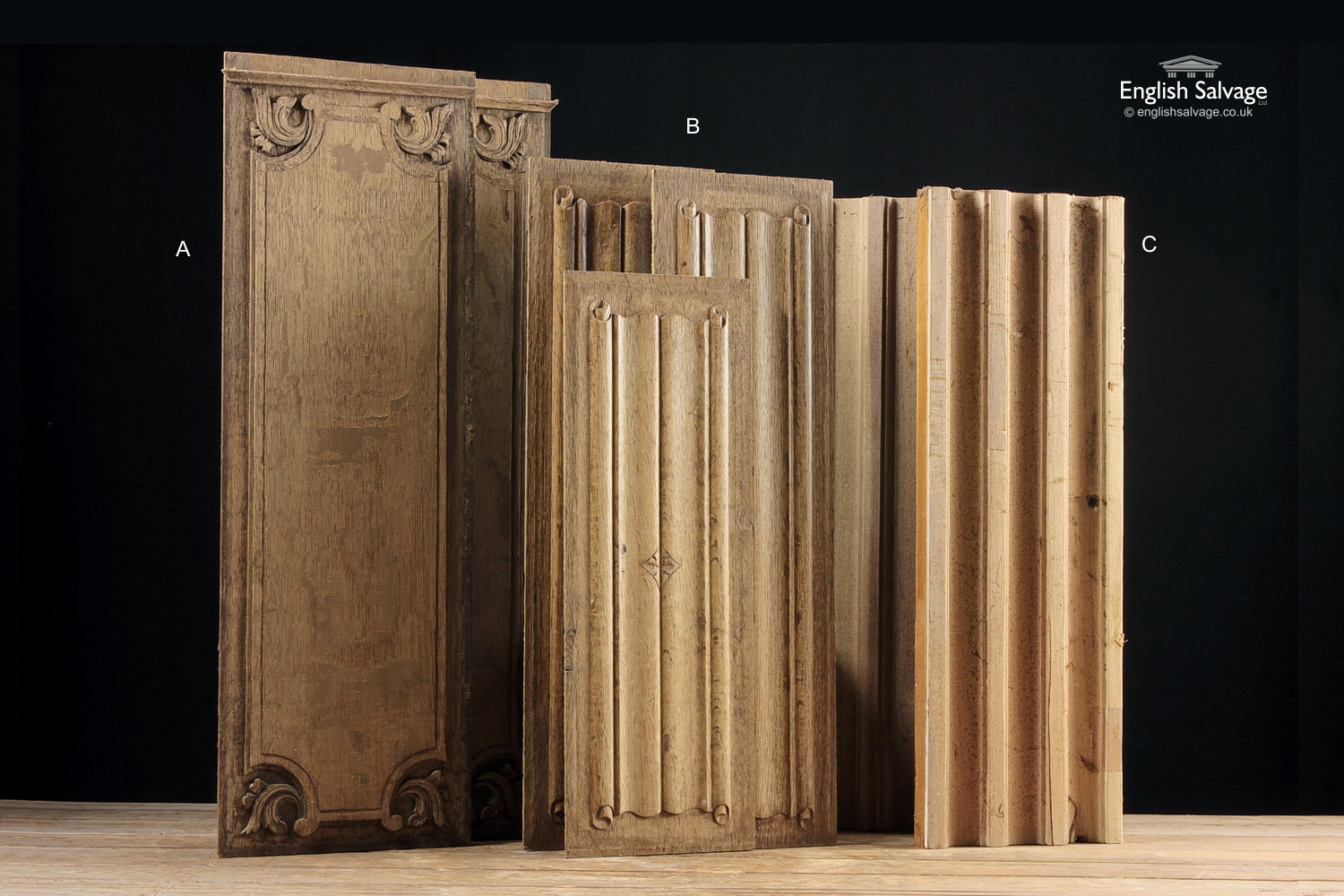 Various Carved Oak Panel Amp Linenfold Panels