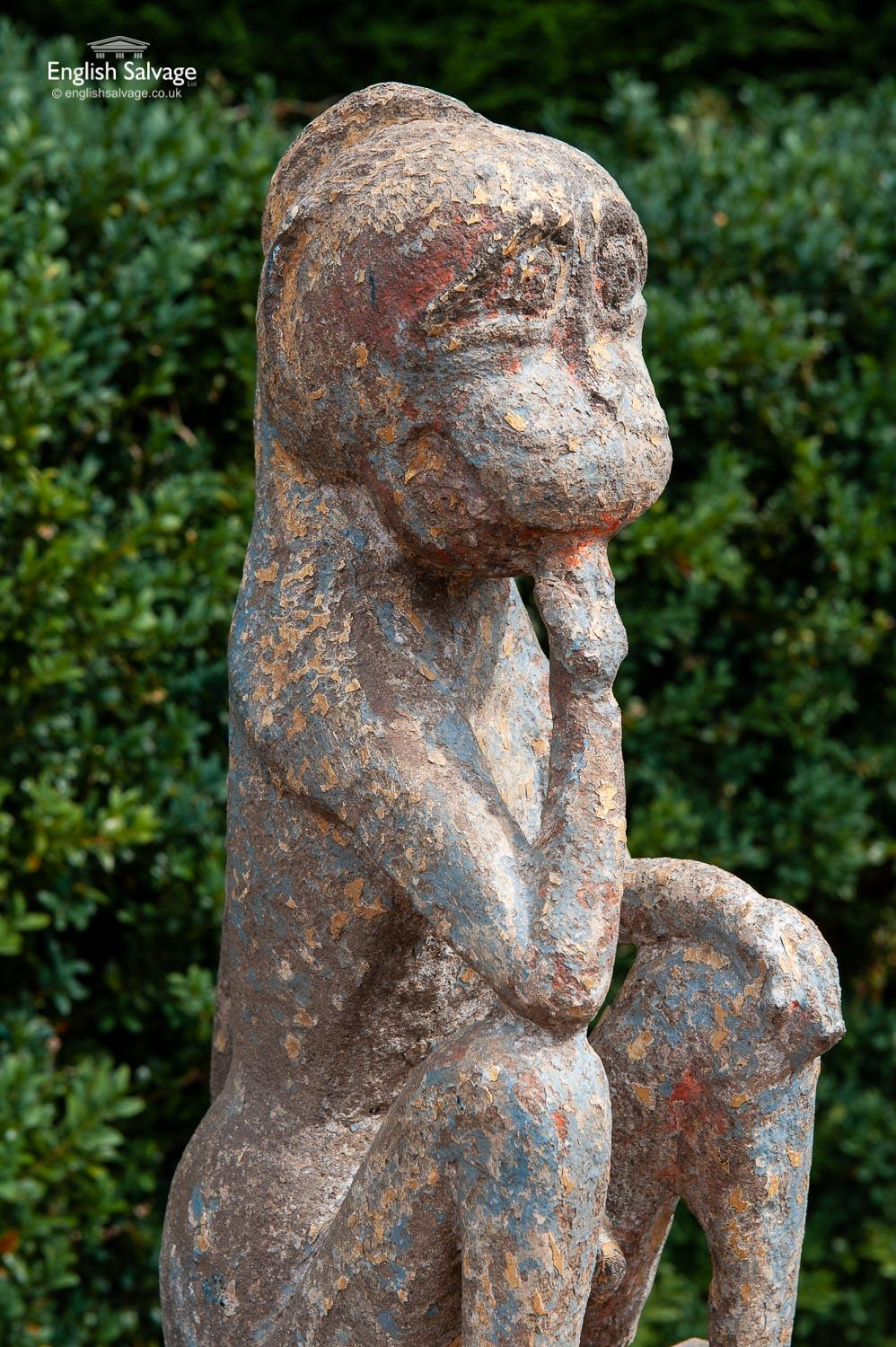 Very Old Stone Monkey From A Temple