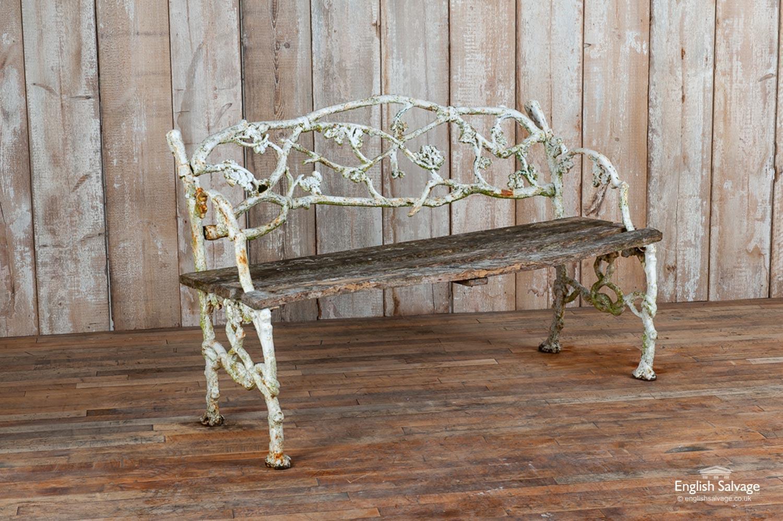 Victorian Cast Iron Tree Branch Garden Bench