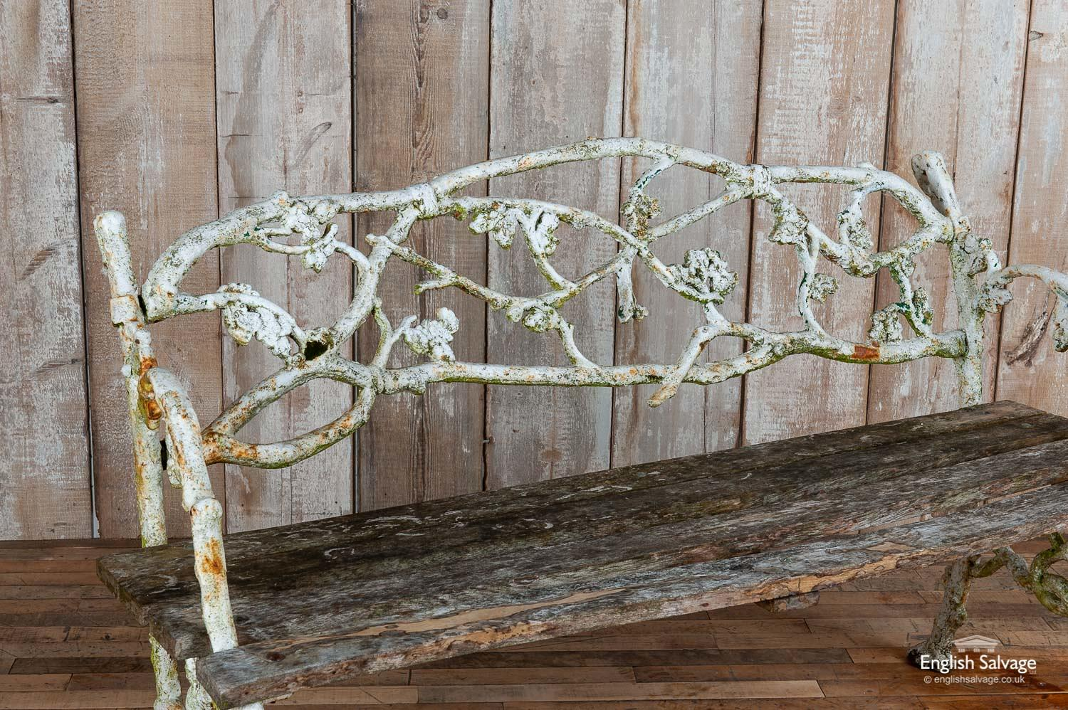 Victorian Cast Iron Tree Branch Garden Bench