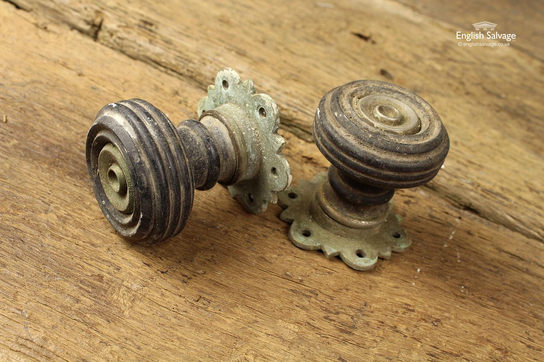 Victorian J C And S Wooden Doorknobs