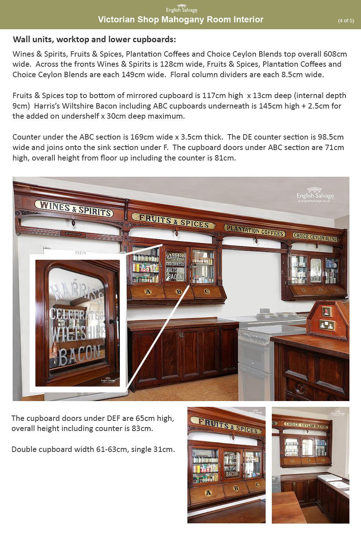 Victorian Mahogany Shop Room Interior