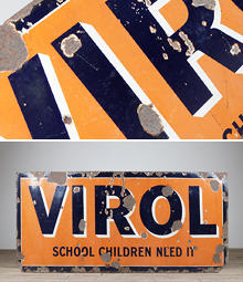 Reclaimed vintage signs and plaques- English Salvage