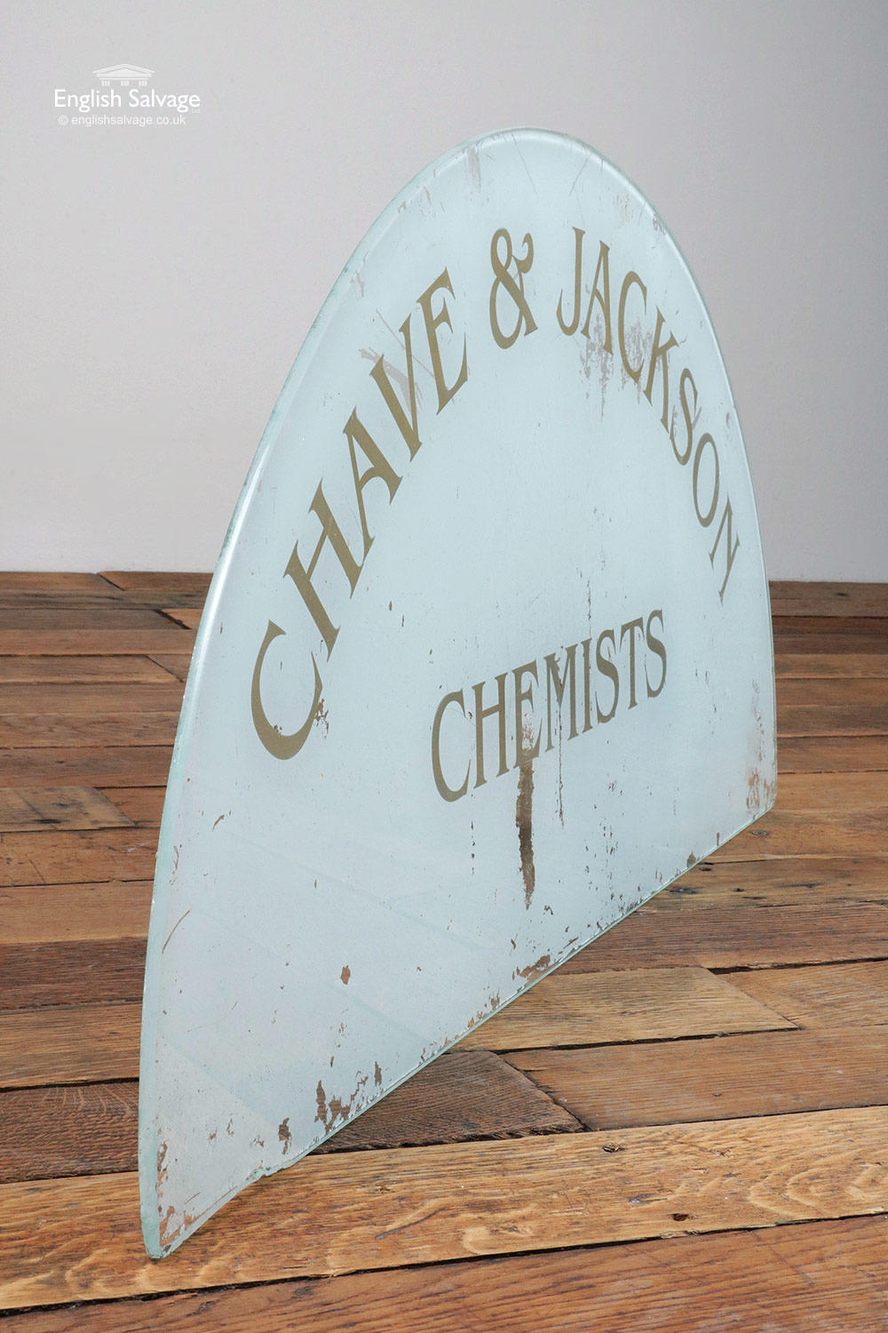 Vintage Arched Opaque Glass Panel
