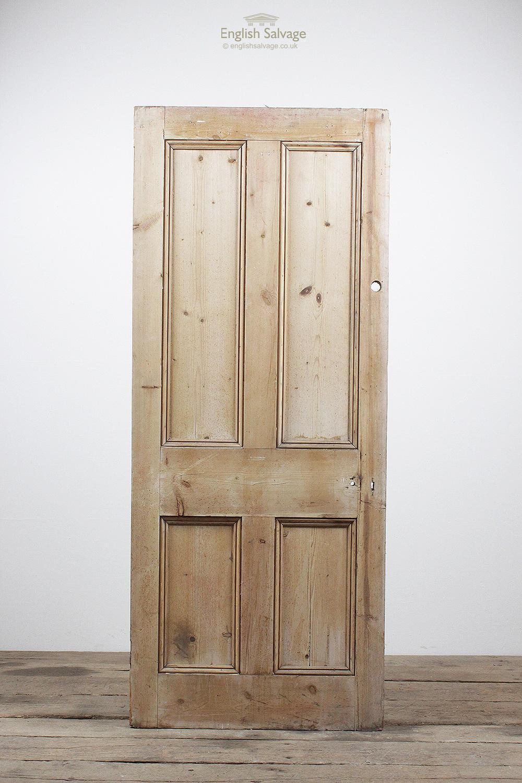 Vintage Four Beaded Panel Pine Door