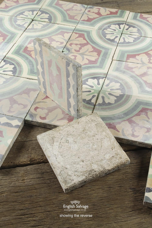 Vintage French Tiles Empire Encaustic Cement