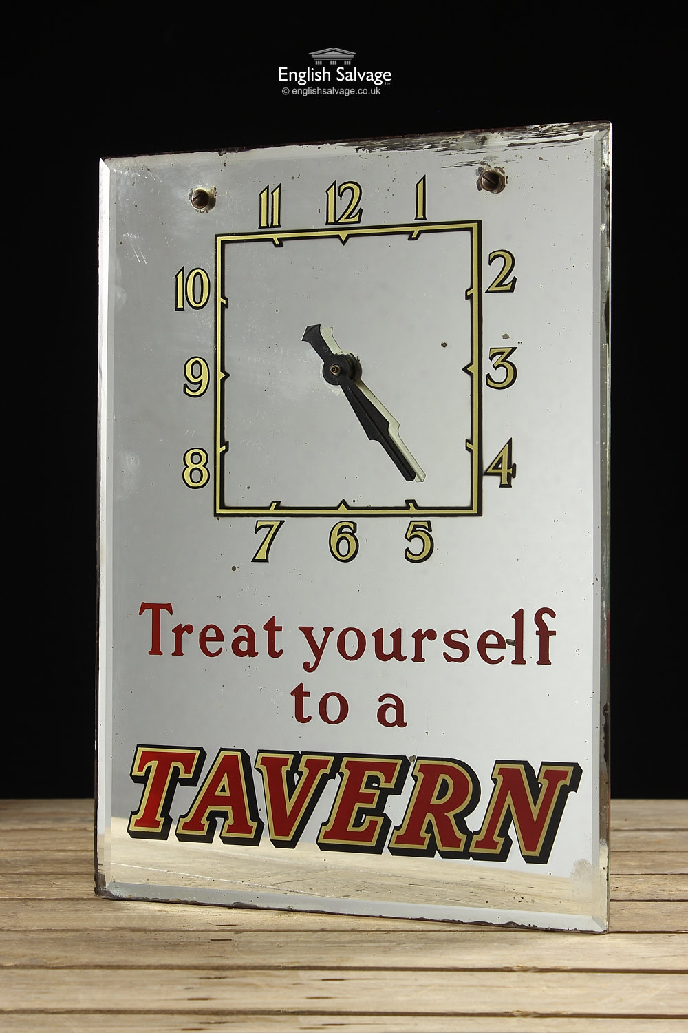 Vintage Fun Glass Advertising Wall Clocks