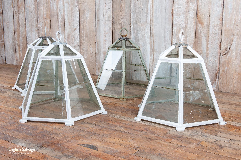 Vintage Hexagonal Iron Framed Garden Cloches