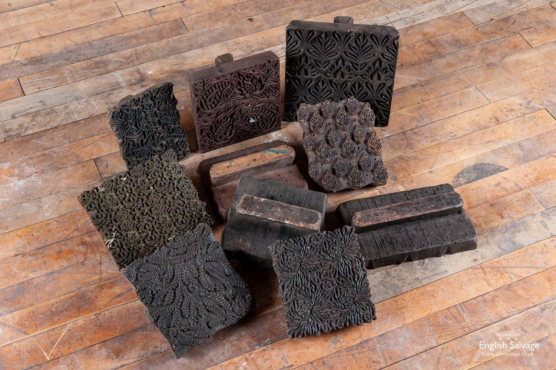 Vintage Indian Fabric Printing Blocks